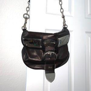 Gucci Black Messenger Bag Silver Hardware
